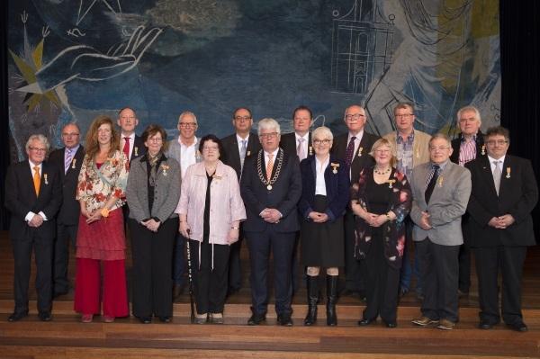 lintjesregen/gedecoreerden gemeente Sittard-Geleen 2016. foto ERMINDO ARMINO